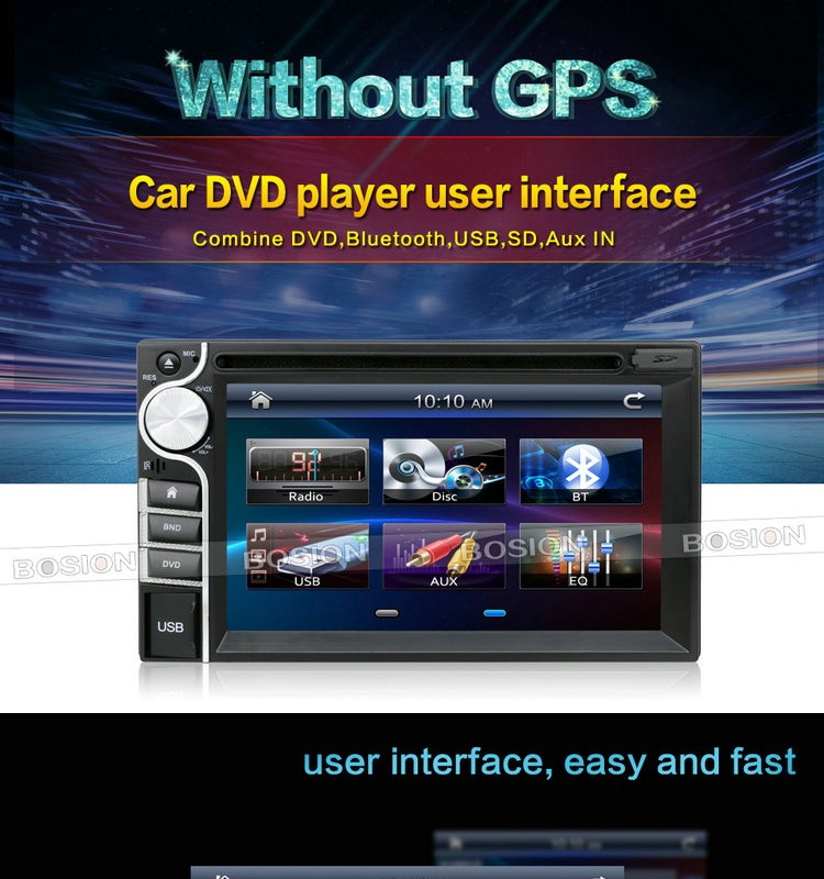 Cheap Car Radios with 6.2inch Display touch Screen DVD Player Universal