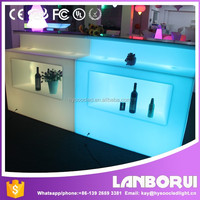 See larger image 2016 new straight led bar counter/ plastic illuminted color changing led bar table