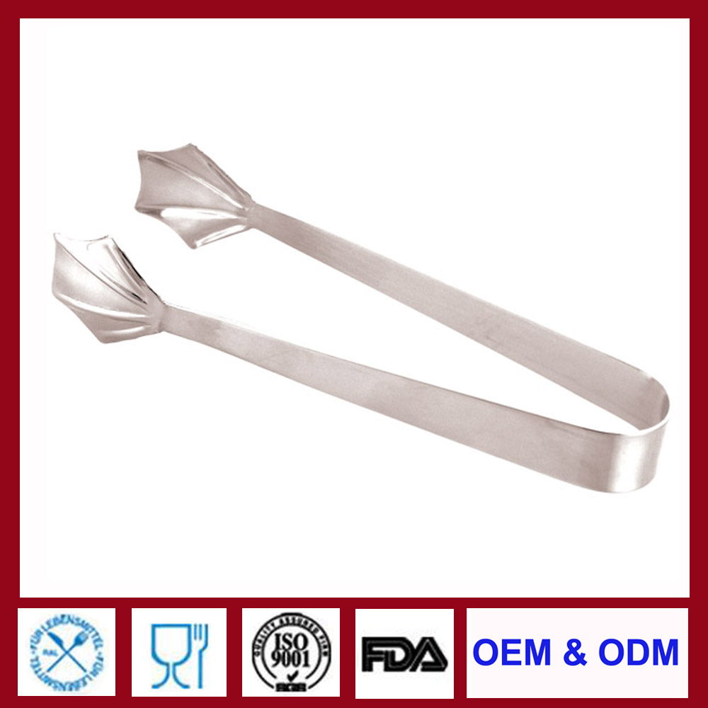silver gold plated stainless steel ice tong ice tongs antique ice tongs for bar party household restaurant hotel from factory