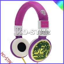 Hot sell fashionable design high quality low price texture headphones, Newest cool custom color full design headphones