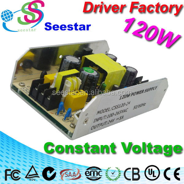 120W stage lighting ac/dc switching power supply,220v ac 24v dc switching power supply
