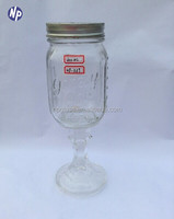 Moonshine Jar with Pewter Lid (2-pack) hillbilly wine glass handmade