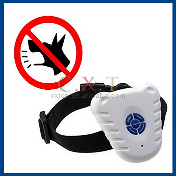 Dog Bark Collar Anti Bark / Ultrasonic / Electronic/Electric Solid White Nylon / Plastic Electronic Dog Training Collar