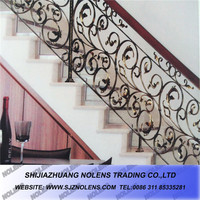 Wrought Iron Ornaments Iron Scrolls Cast Leaves Cast Steel Rosettes For Luxury Wrought Iron Staircases. Step Handrails