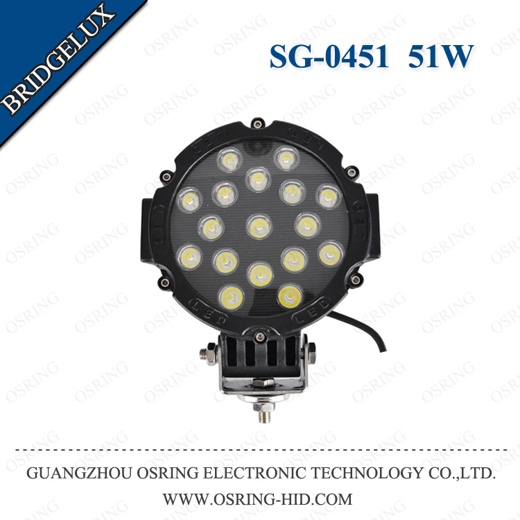 OSRING high quality car led work light 50W 6.3 inch offroad led truck work lights for trucks SUV headlamp car auto part