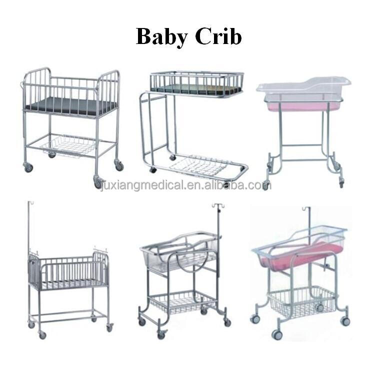 baby crib with wheels/baby cot with IV stand and baby basin