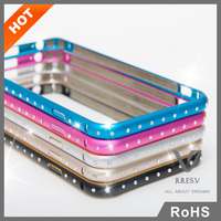 universal thin crystal phone case, for iphone6 cover with color combination bumper