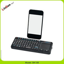 Bluetooth Keyboard for ipad with laptop touchpad and wireless slide changer laser pointer arabic/Russian/japan/spanish Keyboard