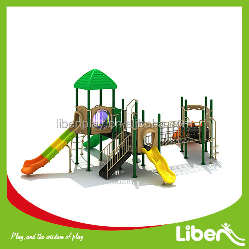 commerical used Children outdoor gymnastic equipment children plastic slides kids cheap outdoor playground