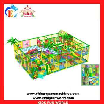 Canton Fair popular kids soft indoor playground equipment for sale