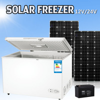 Mini Size Solar Power Deep Refrigerator Chest Freezer for Outdoor Life$Camping