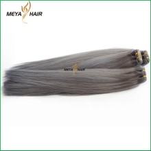 Top selling natural color silky straight wave hair extension grey unprocessed hair for braiding