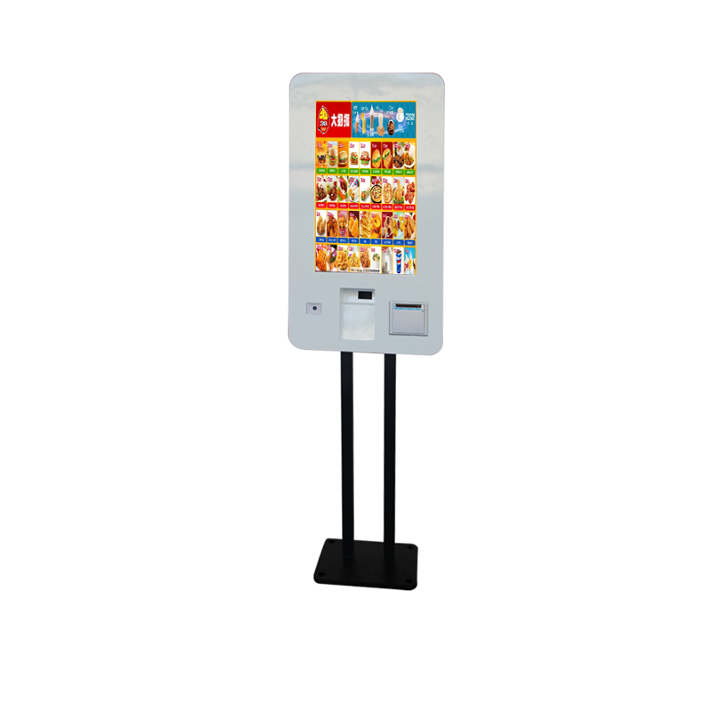 Fast Food Store 27 inch Terminal Printer Barcode Scanner Interactive Ordering Self Service <strong>Payment</strong> Kiosk