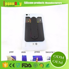Customized Designs Touch-u silicone cell phone case with credit card holder