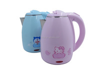 2.0 litres wholesale hot sale plastic stainless steel flower color body electric kettles hot water bottle thermos jug flask