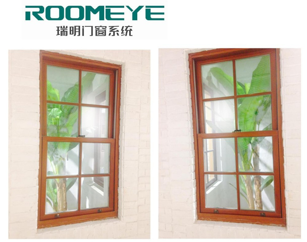 Roomeye aluminum tempered glass casement windows with net for Buy casement windows