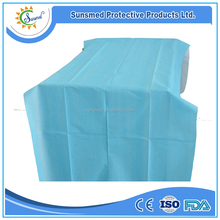 Sunsmed nonwoven disposable surgical bed sheet blue color