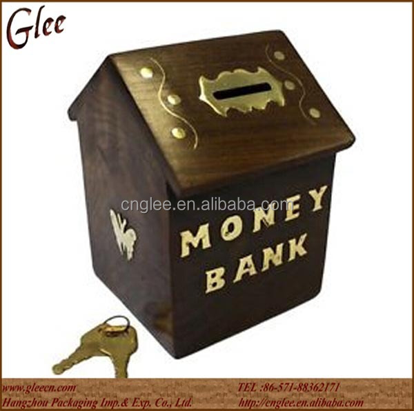 vintage sheesham wood wooden money box,wooden piggy bank box
