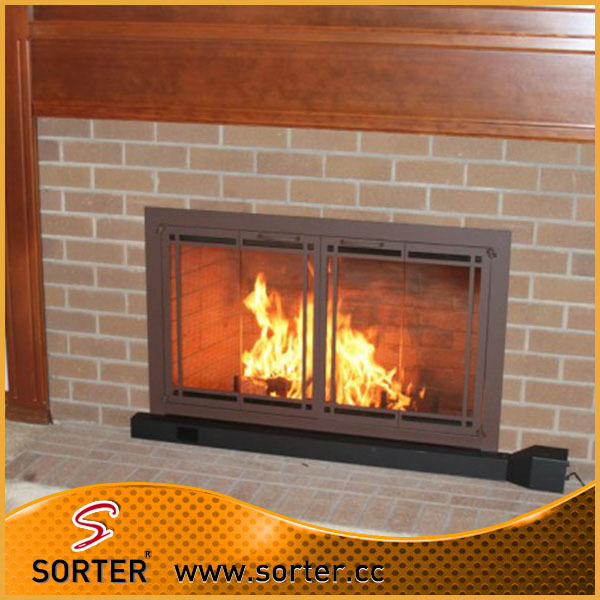 high quality durable wall mounted metal mesh fireplace