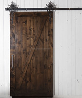 OPP solid wood interior sliding barn door