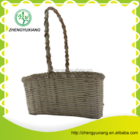 beautiful rattan storage basket with handle
