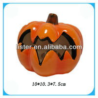 Ceramic Halloween Pumpkins In Flat Shape
