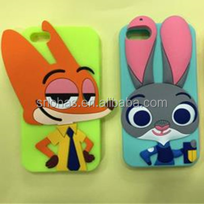 2016 Newest Fancy Animal Silicone Mobile Phone Cover