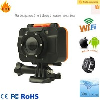 WIFI APP remote control 1080p 30fps waterproof digital camcorder with flashlight