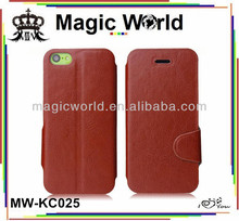 Low luxury mobile phone leather wallet case for iphone 5c
