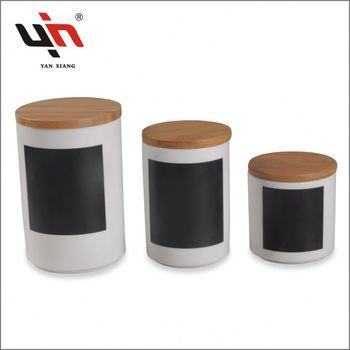 Super White Ceramic Storage Jar Rubber Seal