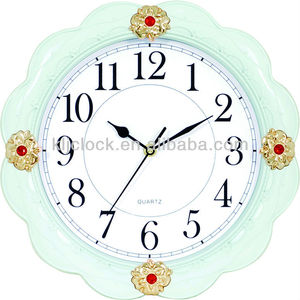 Art Painting Clock Flower Wall Clock Plastic Wall Clock