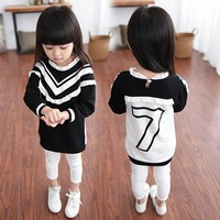 Fashion New Design Child Clothes Lace Black Baseball Girl's Tops For Wholesale