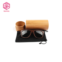 luxury cylinder bamboo eye glasses case custom sunglass box with lid