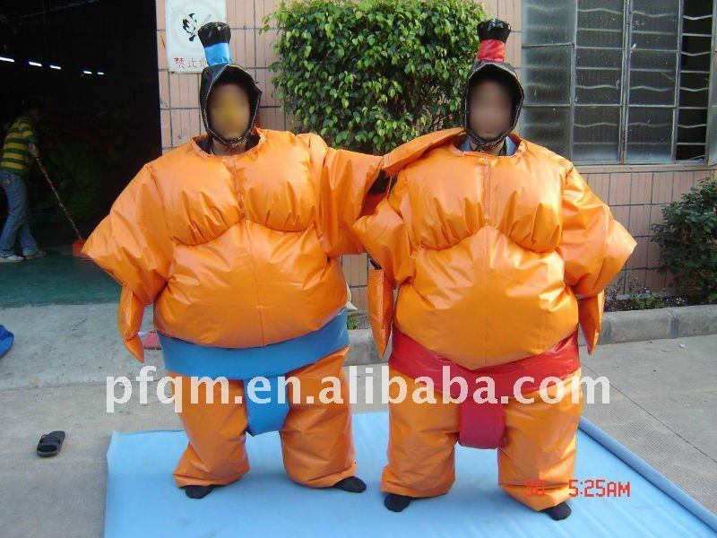 inflatable moving cartoons/sumo