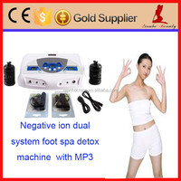 Best price dual system ion detox foot spa machine with MP3