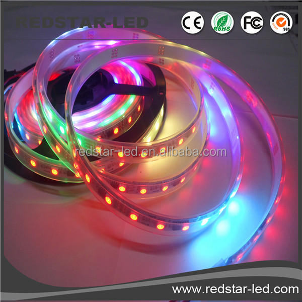 150led/roll 300led/roll digital programmable addressable ws2812b led 5050 rgb strip
