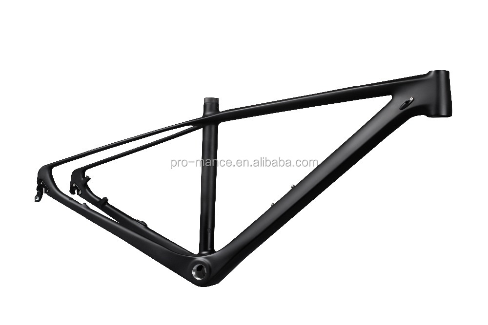 29er MTB Full Carbon Mountain Bike Frame with Disc Brake Post Mount Thru-Axle or QR, 3K/12K/UD