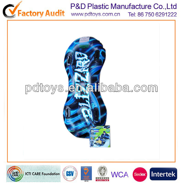 0.6mm PVC Inflatable plastic double snowboard for sale