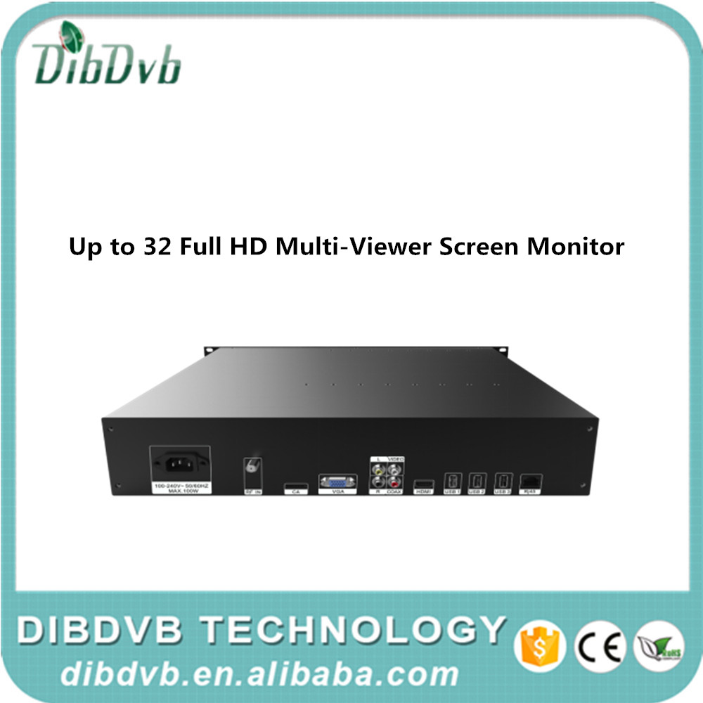 digital tv broadcasting equipment multiviewer Video and audio monitoring server