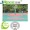 Silicone PU court sports vinyl flooring basketball court Clay tennis court construction