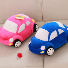 mini stuffed plush car toy baby soft toy car