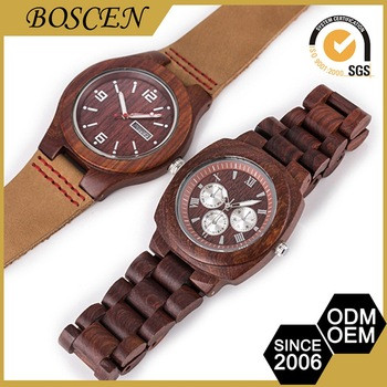 3 Atm Water Resistant Japanese Movement Brand Your Own Wooden Watch For Unisex