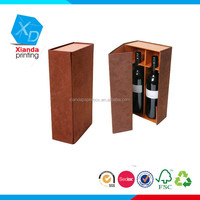 PU Leather Wine Carrier For double Bottles Gift