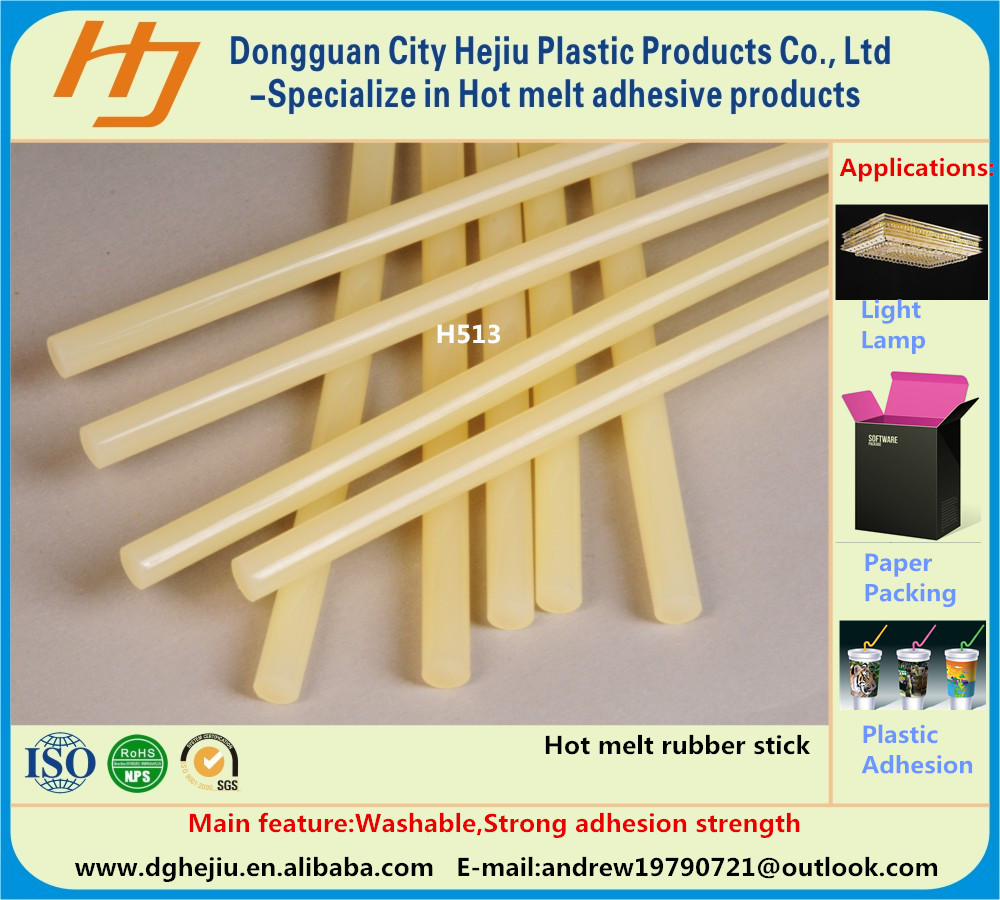 Solid PES hot glue stick for paper binding and adhesion seal