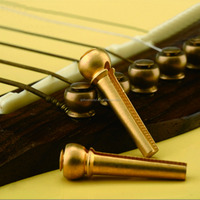 Metal Acoustic Guitar Bridge Pins Guitar Strings Fixed Cone String Pins String Nails Pure Copper 27*8*8mm Professional