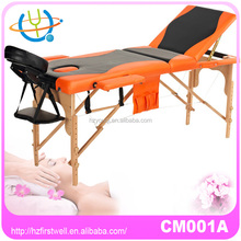 modern thai massage table,wooden legs massage table