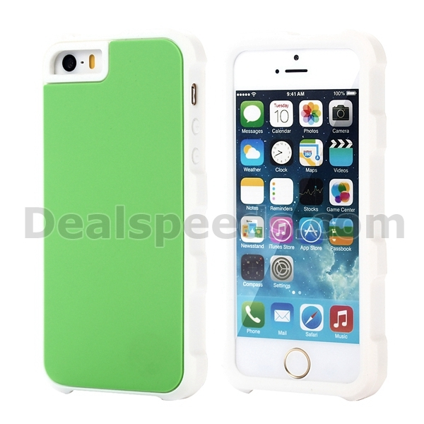 Dual Color Back Silicone Case for iPhone SE 5/5S Back Cover