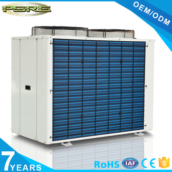 Top discharge scroll compressor condensing unit