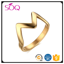 China wholesale trending hot products high polished w alphabet simple style jewelry handmade ring