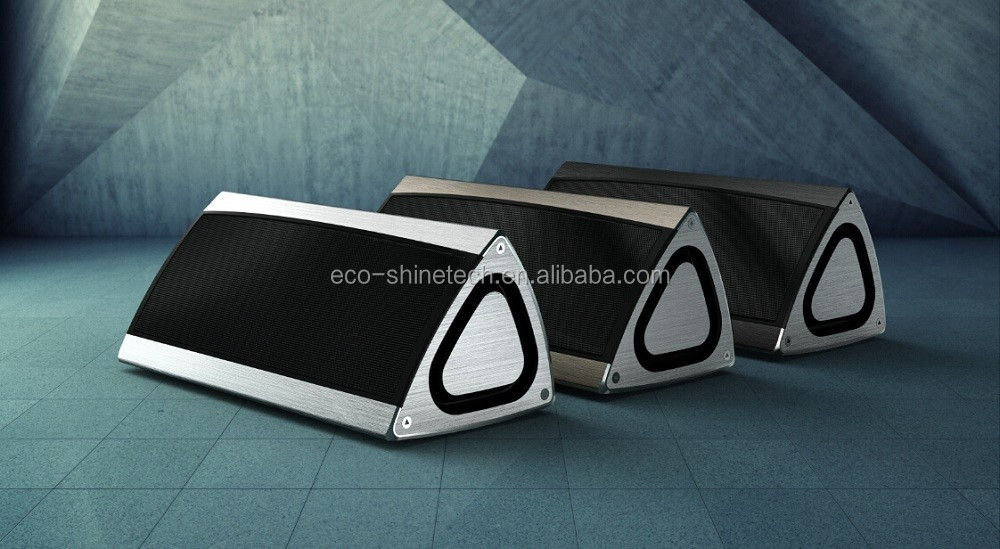 High quality SCSR4.0 10w 3D stereo triangle hand free bluetooth speaker subwoofer